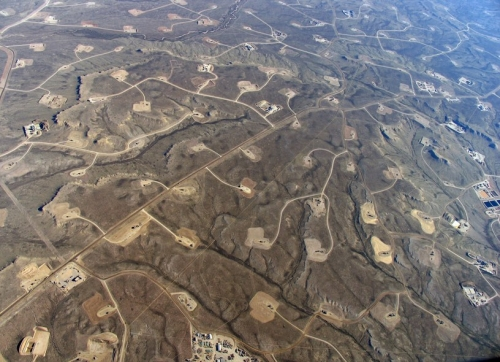 Fracking pads