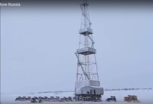 Drilling Rig Move Russia