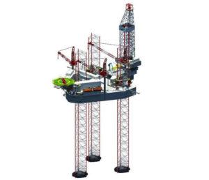 Bottom supported jack up rig