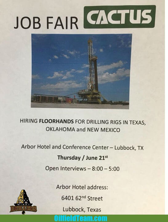 Cactus Drilling Company Jobs in Texas, Oklahoma and New Mexico