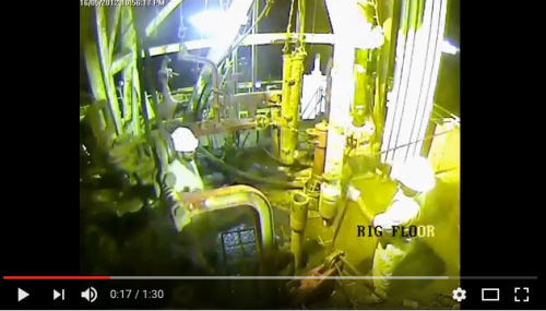 Drilling Rig Accident on rig floor